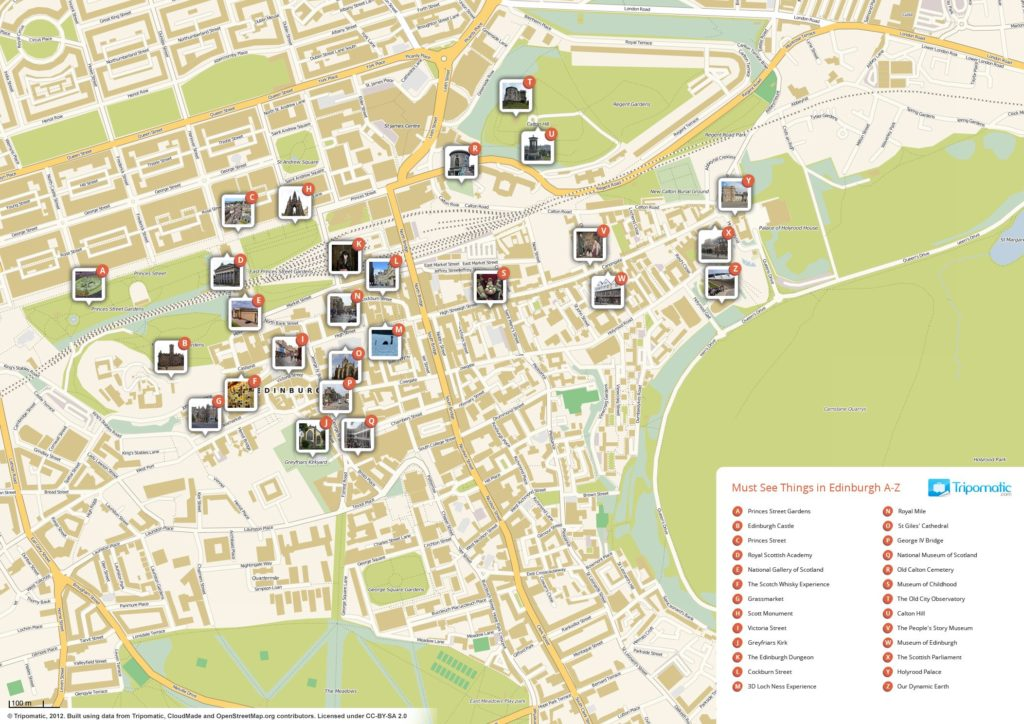 edinburgh tourist attractions map